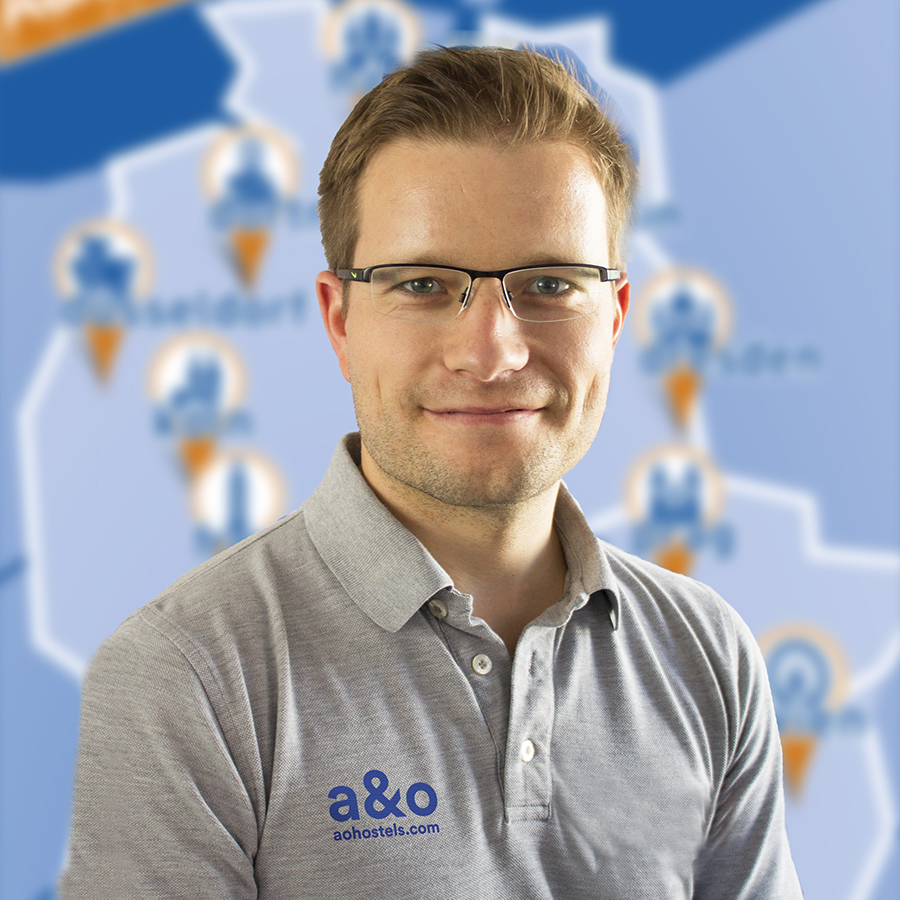 Marketingleiter bei a&o Hotels und Hostels Phillip Winter. Bildnachweis: ©a&o Hostels